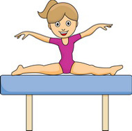gymnastics girl balance beam clipart